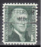 USA Precancel Vorausentwertung Preo, Locals Maine, Jefferson 841 - Vereinigte Staaten