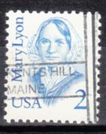 USA Precancel Vorausentwertung Preo, Locals Maine, Kents Hill L-1 HS - Vereinigte Staaten