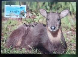 Black Imprint Maxi Card Of 2019 Formosan Serow ATM Frama Stamp  - Goat Mount Unusual - ATM - Frama (labels)