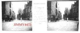 Plaque De Verre En Stéréo - BRUGGE - Rue Du Saint Esprit Bien Animée - BRUGES Flandre Occidentale - Glasdias