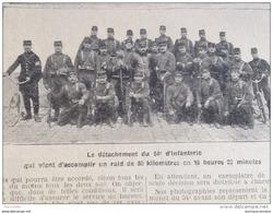 """1907 RAID DU 54e D'INFANTERIE / OBSERVATOIRE DE MEUDON / CUIRASSÉ """" VÉRITÉ """" BORDEAUX / ÉCROULEMENT DU PHARE COUBRE - Zeitungen"""