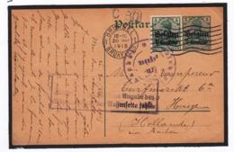 Guerre 1914/19    Carte Vers Les Pays-Bas Voir Cachets - WW I