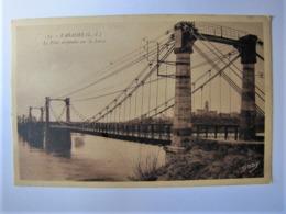 FRANCE - LOIRE ATLANTIQUE - VARADES - Le Pont Suspendu Sur La Loire - 1950 - Varades