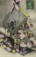 Album CARTES POSTALES  Portraits Jeunes Femmes RV - Fantaisies