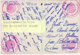 ALLEMAGNE 4 CACHETS MILITAIRES EISENBAHNSTATION IN GLADBECK WEST Avec GRIFFE  Du 1 Aout 1923 -> BOLBEC SEINE INFERIEURE - Storia Postale
