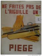 Affiche SNCF De Sécurité - 23 - Ne Faites Pas De L'aiguille Un Piege - Publicité