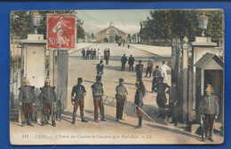 LYON   Entrée De La Caserne à La Part-Dieu      Animées  écrite En 1911 - Other