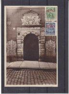 Estonie - Carte Postale De 1928 - Oblit Tallinn Sadam - Exp Vers Rome - Vue D'un Portail - Estonia