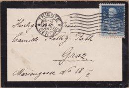 ENVELOPPE TIMBRE   1927 TRIESTE VOIR TIMBRES ET CACHETS - 1900-44 Victor Emmanuel III.