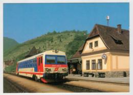 OSTERREICH   TRAIN- ZUG- TREIN- TRENI- GARE- BAHNHOF- STATION- STAZIONI   2 SCAN  (NUOVA) - Treni