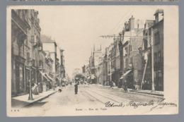 REIMS   Rue De Vesle         Animées   écrite En 1906 - Reims