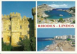 Rodhes (Rodi, Grecia) Lindos, Vedute E Scorci Panorami, Panoramics Views - Grecia