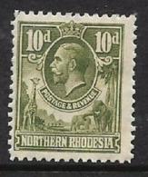 Northern Rhodesia GVR 1925, Definitive, 10d, MH * - Northern Rhodesia (...-1963)