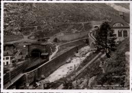 ! Alte Ansichtskarte Schweiz, Göschenen Gotthardtunnel Und Schöllenenbahn, Eisenbahn, Chemin De Fer - Treni