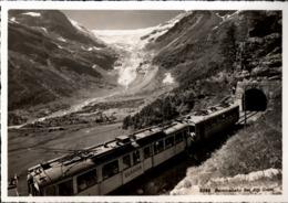 ! Alte Ansichtskarte Schweiz, Berninabahn Bei Alp Grüm, Eisenbahn, Chemin De Fer - Trains