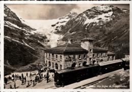 ! Alte Ansichtskarte Schweiz, Berninabahn, Bahnhof Alp Grüm, Eisenbahn, Chemin De Fer - Trains