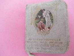 Pt Calendrier De Poche 2 Volets Avec Petit Miroir/Liberté égalité Fraternité/Au Grand Tourville/COUTANCES/1914? CAL446 - Calendriers
