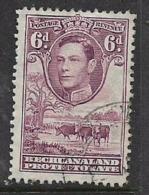 Bechuanaland, GVIR, 1944, 6d, Purple, Used - Nyasaland (1907-1953)