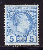 Monaco 1885 Yvert 3 (*) TB Neuf Sans Gomme - Neufs