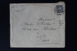 DR  COVER SABERNIELS ELSAS SAVERNE HUFEISENSTEMPEL -> PARIS 1876 - Briefe U. Dokumente