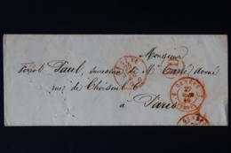 Switserland Cover Geneva - Sardaigne -> Paris 1849 - ...-1845 Prefilatelia