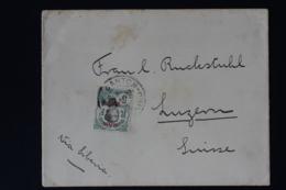 Kanton Canton Cover  Via Siberia To Luzern Switserland 1911 - Canton (1901-1922)