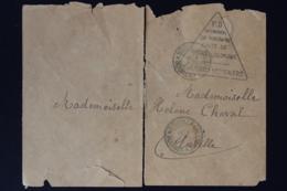 Nouvelle-Calédonie -> Ensille 14-4-1876 Cachet Trialgle  AFFRANCHI EN NUMERAIRE FAUTE DE TIMBRES COLONIEUX Damaged - Briefe U. Dokumente