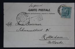 Levant UK Postcard UK Postoffice Constantinople To Rotterdam 1903 - British Levant