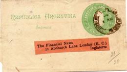 ARGENTINE. Impresos. 2 Centavos. A Destination De Londres. - Postal Stationery