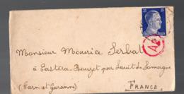 Enveloppe  1943 Avec  Timbre Hitler 25 Pf  (Gemeinschaftslager ) (PPP20277) - Allemagne