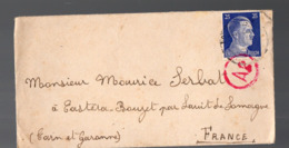 Enveloppe  1943 Avec  Timbre Hitler 25 Pf  (Gemeinschaftslager ) (PPP20277) - Germania
