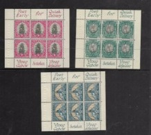 South Africa, 1/2d, 1d. 1 1/2d,  Panes From Booklet Of 1948, MH * In Top Selvedge - South Africa (...-1961)