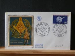 A10/407   FDC FRANCE - Freemasonry