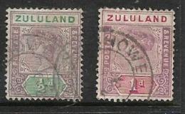 Zululand, 1894, 1/2d, 1d, Used - Zululand (1888-1902)