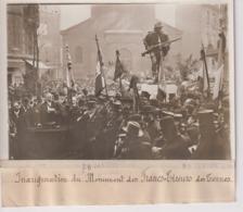 INAUGURATION MONUMENT DES DES FRANCS TIREURS DES TERNES Tristan Bernard  18*13CM Maurice-Louis BRANGER PARÍS (1874-1950) - Lieux