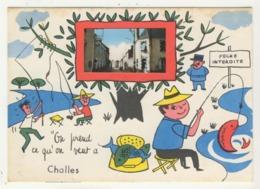 """72 - Challes -     """"On Prend Ce Qu'on Veut à Challes""""  -  Humoristique Avec Minivue - Francia"""