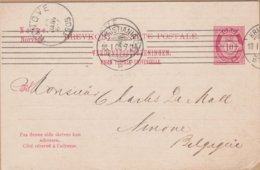 CARTE ENTIER 1905 KRISTIANIA A  NINOVE EN BELGIQUE - Postal Stationery