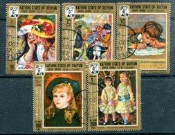 KATHIRI STATE OF SEIYUN - Y&T 121 (3 Timbre Sur 5) + PA3 - Tableaux De Renoir (peinture) - Ver. Arab. Emirate