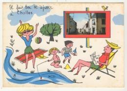 """72 - Challes -     """"Il Fait Bon Se Reposer à Challes""""  -  Humoristique Avec Minivue - France"""