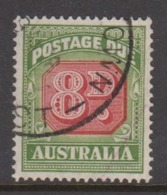Australia D 127 1946-57 Postage Due ,8d ,carmine And  Green,used - Segnatasse
