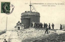 L'Observatoire Au Sommet Du Puy De Dome 'altitude 1465m ) Animée RV - Autres Communes