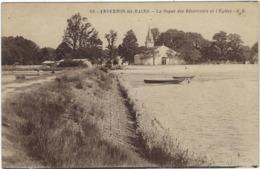 33     Andernos Les Bains    La Digue Des Reservoirs  Et L'eglise - Andernos-les-Bains