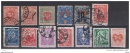LITUANIA:  1919/31  VARI  -  INSIEME  13  VAL. US. -  YV/TELL. 35//377 - Lituania
