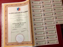 Sté  Nationale  ELF  AQUITAINE -----Action  De  10 Frs - Aardolie