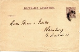 ARGENTINE. Impresos. 2 Centavos. A Destination D'Hambourg. - Postal Stationery