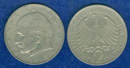 BRD 2 DM Max Planck 1957 G - [ 7] 1949-…: BRD