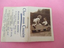 Pt Calendrier De Poche / Petit Almanach/Enfants Et Voiture à Pédales/ Chez Mon Cousin/Paris/1950  CAL452 - Calendriers