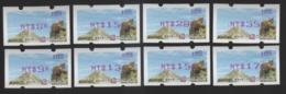 TAIWAN- ATM - ROCUPEX 2019 Taipei R.O.C.-Thailand Stamp Exhibition – Formosan Serow #109 Red (set Of Eight) - Vignettes ATM - Frama