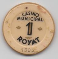 Jeton De Casino Municipal Royat 1 Franc - Casino