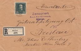 Bosnien: 1916: Einschreiben Kielce Nach Breslau: Zensuriert - Autres - Europe